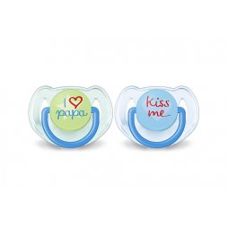 Avent Chupete 6-18M I Love Azul 2uds
